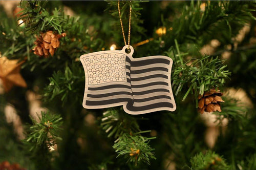U.S. Flag Christmas Ornament