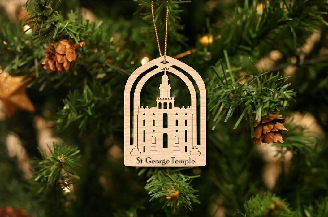St. George Temple Christmas Ornament