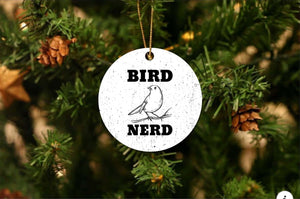Bird Nerd Christmas Ornament