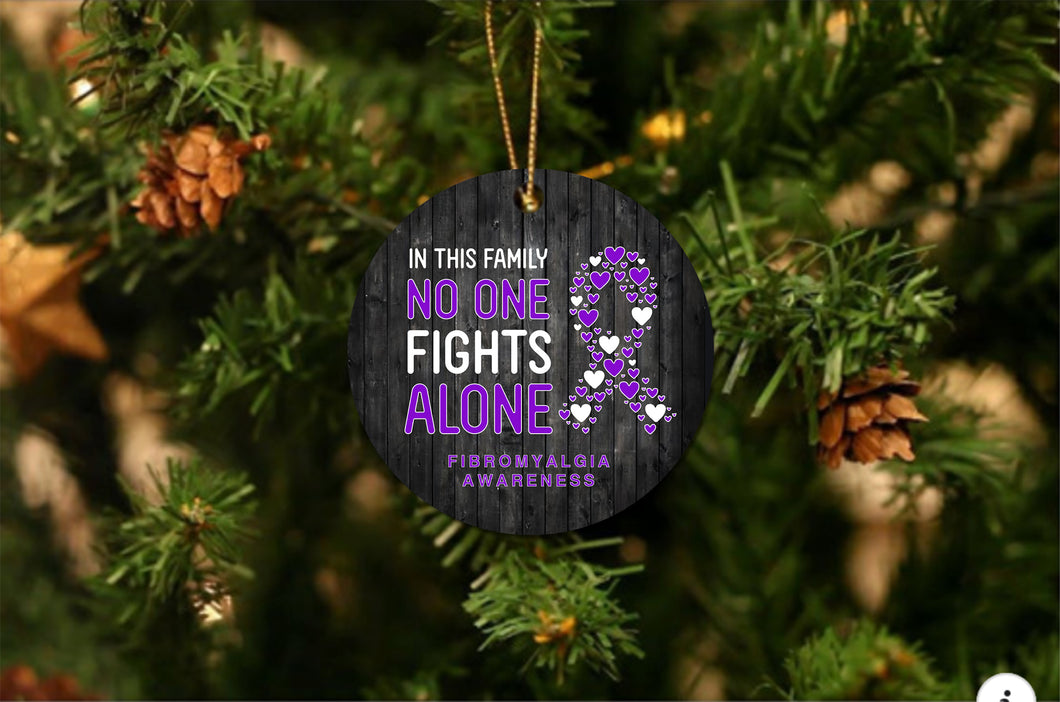 Fibromyalgia Awareness Christmas Ornament