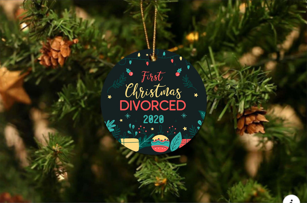 First Divorced Christmas Ornament