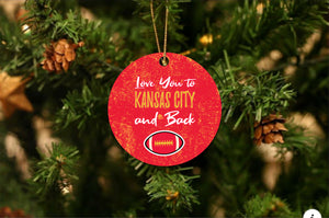 Love You To Kansas Christmas Ornament