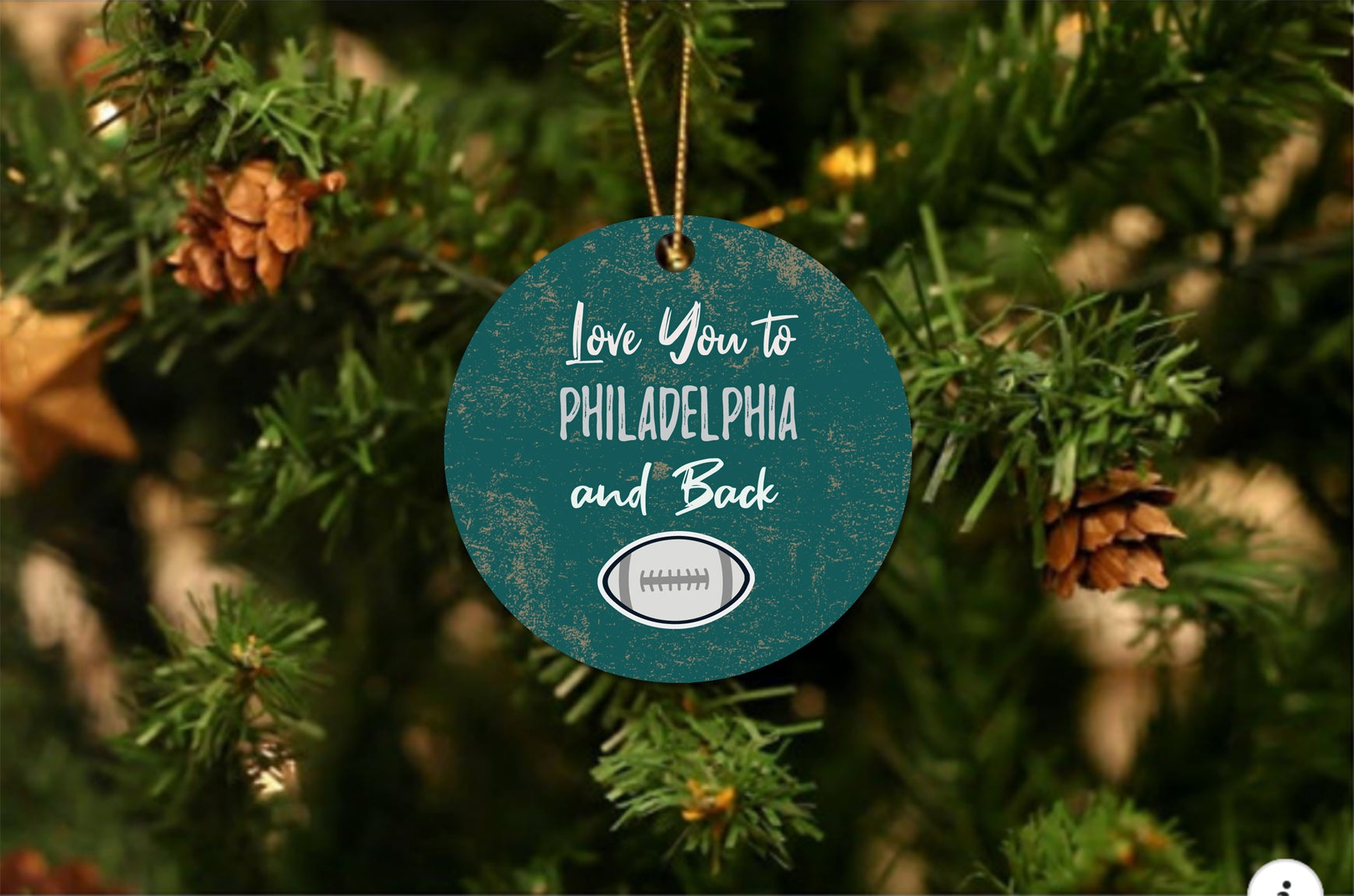 Love You To Philadelphia Christmas Ornament