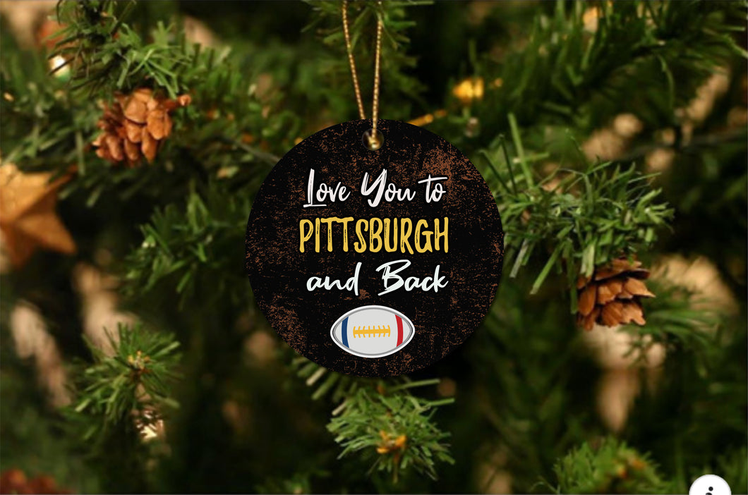 Love You To Pittsburgh Christmas Ornament