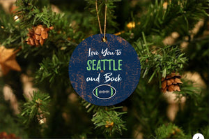 Love You To Seattle Christmas Ornament