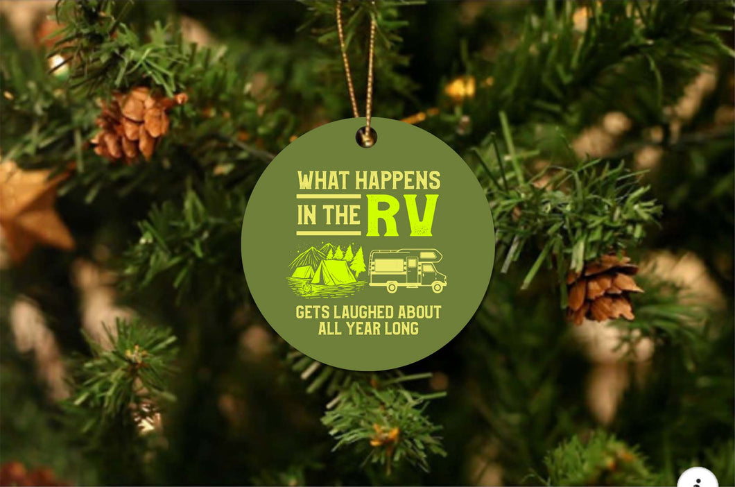 What Happens In The RV Christmas Ornament