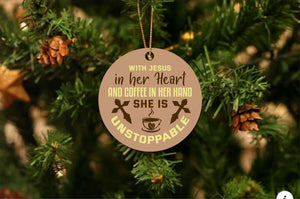 Jesus In Her Heart Christmas Ornament