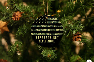 US Army Separate Never Alone Christmas Ornament