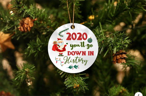 2020 Go Down In History Christmas Ornament