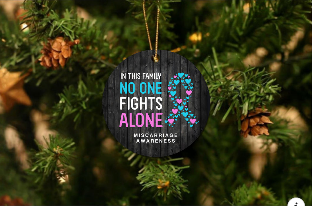 Miscarriage Awareness Christmas Ornament