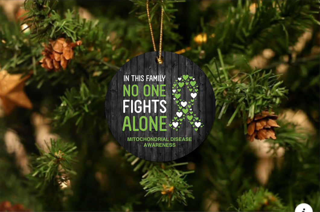 Mitochondrial Disease Awareness Christmas Ornament