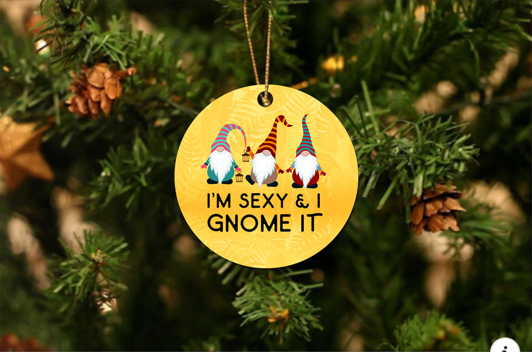 Gnome It Christmas Ornament