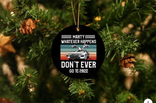 Back To The Future Christmas Ornament