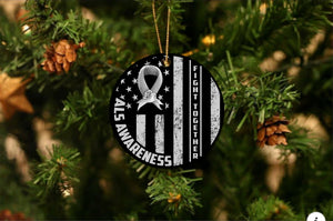 ALS Awareness Together Christmas Ornament
