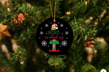 Load image into Gallery viewer, 2020 Elfed Up Christmas Ornament