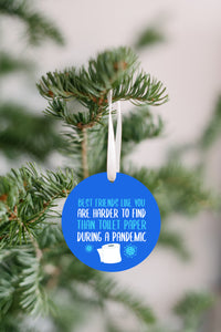 Best Friends Pandemic Christmas Ornament