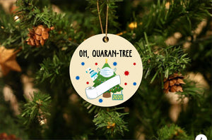 Oh Quarantree Christmas Ornament