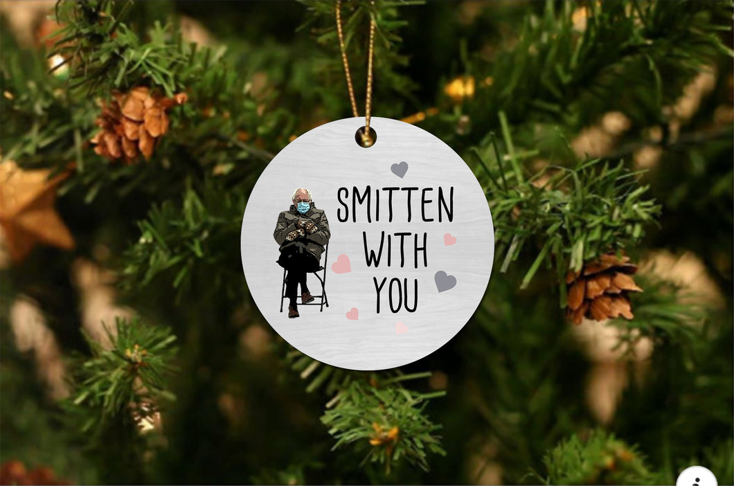 Bernie Smitten With You Christmas Ornament