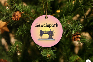 Sewicopath Christmas Ornament