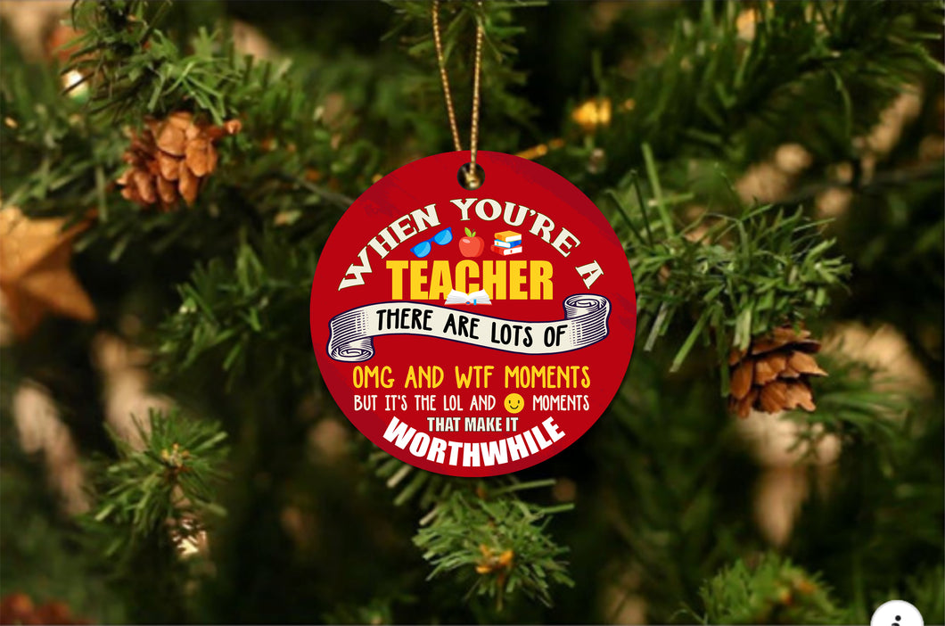 Teacher OMG Christmas Ornament