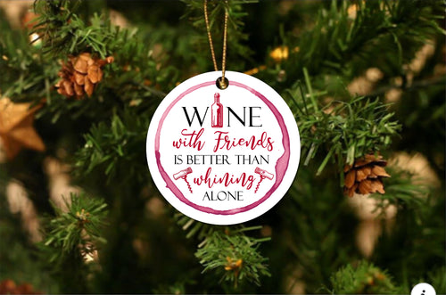 Wine With Others Christmas Ornament