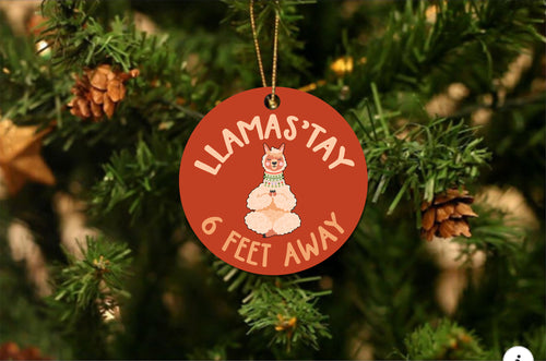 Llamastay Christmas Ornament