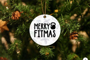 Merry Fitmas Christmas Ornament