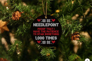 Needle Point Christmas Ornament