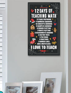 Math Teacher 12 Days Sign