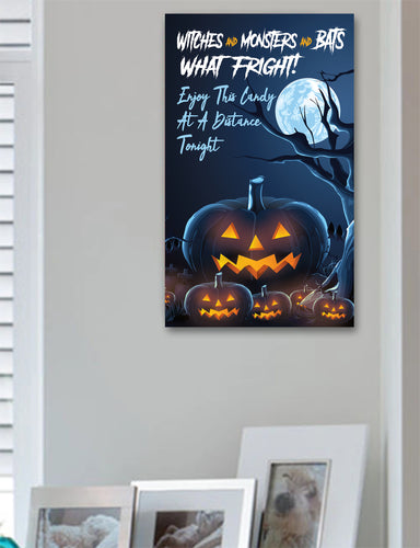 Social Distance Trick or Treat Sign Halloween Sign