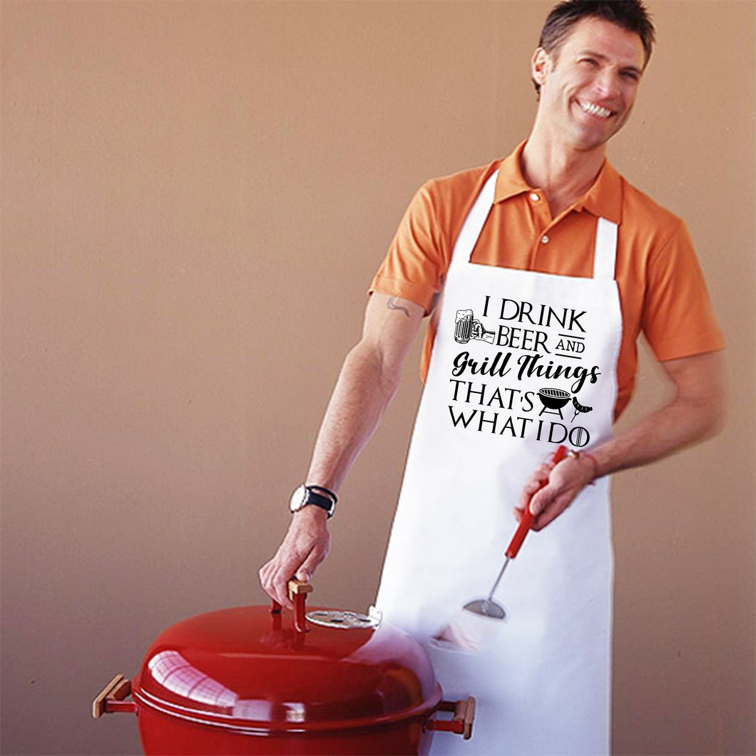 Beer and Grill things Apron