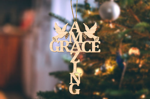 Amazing Grace Christmas Ornament