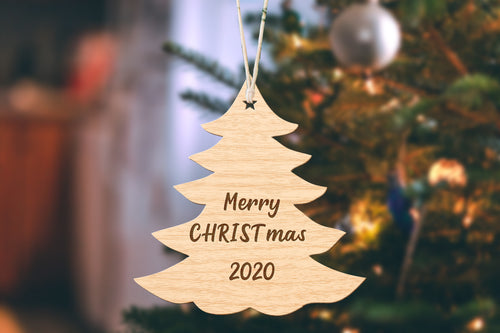 Merry CHRISTmas 2020 Small Tree Christmas Ornament