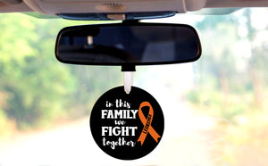 In This Family We Fight Together - Leukemia Car Hanger