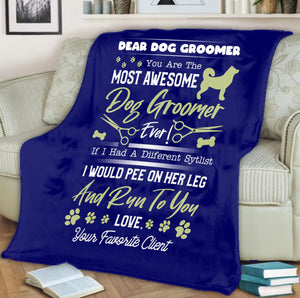 Dog Groomer Blanket