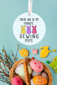 Sewing Peeps Ornament