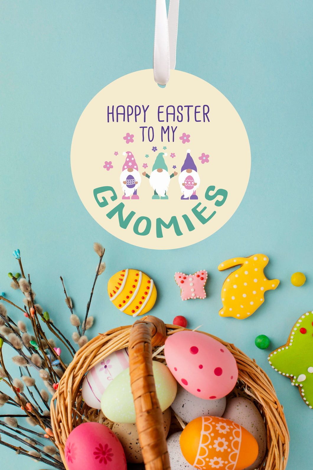 Happy Easter to My Gnomies Ornament