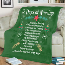 Load image into Gallery viewer, Nursing Fleece Blanket- 12 Days of Christmas