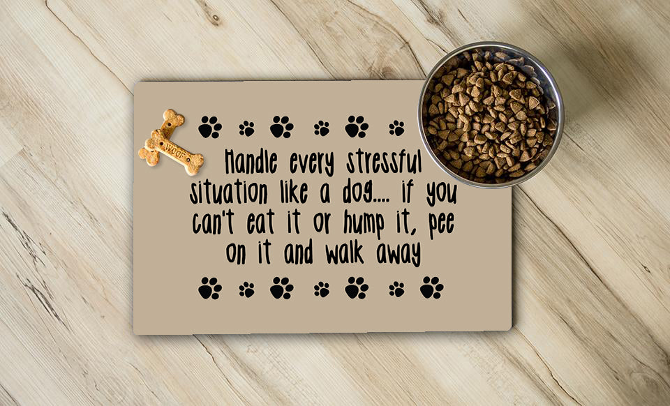 Handle It Like A Dog Place Mat