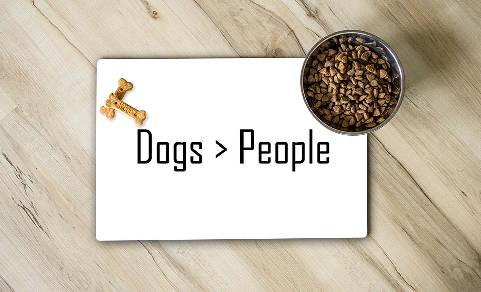 Dogs People Pet Place Mat
