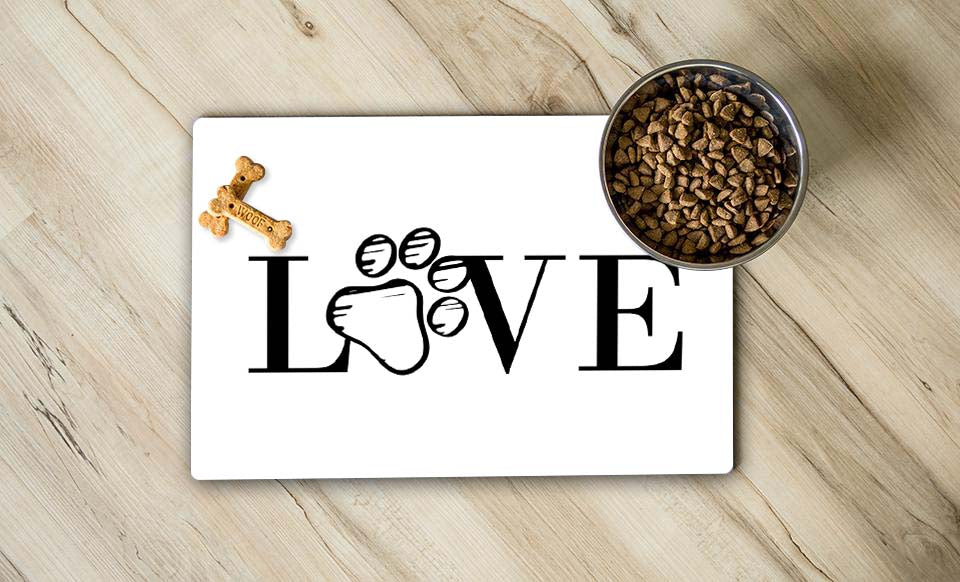 Love Dogs Pet Place Mat