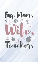 Load image into Gallery viewer, Fur Mom Wood Sign