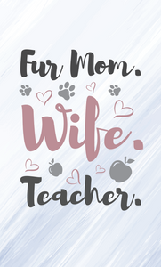 Fur Mom Wood Sign