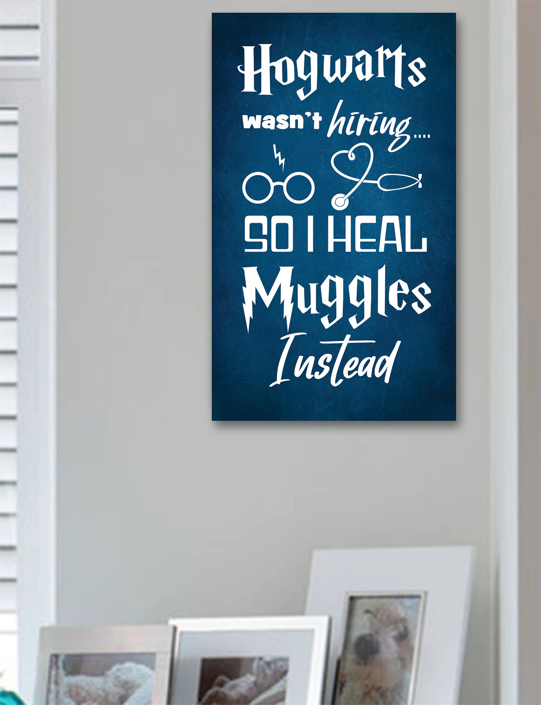 Hogwarts Nurse Wood Sign