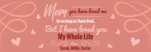 You Have Loved Me For As Long As I Have Lived Personalized Sign