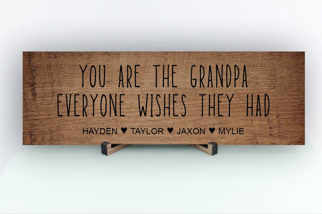 Grandpa Everyone Wishes Personalized Sign