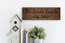 Load image into Gallery viewer, Personalized Rustic Wood Family Name Sign