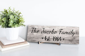 Personalized Family Name Sign