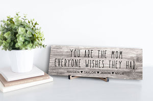 Mom Everyone Wishes Personalized Sign