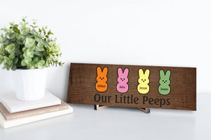 Our Little Peeps Rustic Easter Sign - 50% OFF Sale!